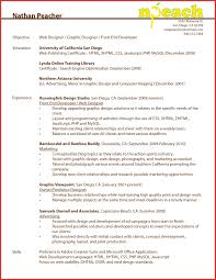 web developer resume resume template for web developer best of web developer resume