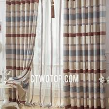 Blue Striped Curtains Casual Half Price Bedroom Chocolate Beige And Baby Blue Striped