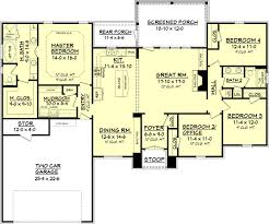 house plans with 4 bedrooms european plan 2 000 square 4 bedrooms 2 bathrooms 041 00082