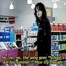 Schools Out Meme - alice cooper was in a back to school commercial album on imgur