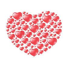 heart shaped balloons heart shaped balloons stock vector colourbox