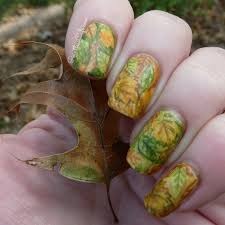 hpb presents autumnal leaves fall nail art pointless cafe