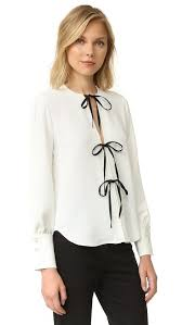 tie front blouse comey white meryl tie front blouse size 0 xs tradesy