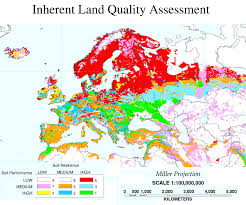 Europe Countries Map by Soil Quality Of European Countries Europe