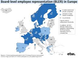 updated map of europe updated map of board level employee representation in europe bler