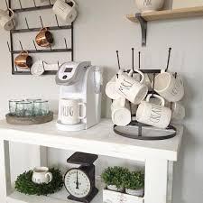 Coffee Nook Ideas by Diy Farmhouse Style Coffee Bar And Cocoa Bar Rae Dunn Mugs