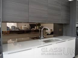 mirrored kitchen splashback