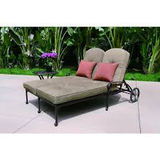 Sofa And Chaise Lounge Set by Darlee Elisabeth 2 Piece Cast Aluminum Patio Double Chaise Lounge