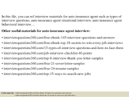 cover letter for insurance agent top 10 auto insurance agent interview questions and answers