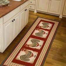 Red Runner Rug Orian Country Rooster Spanish Red Runner Walmart Com