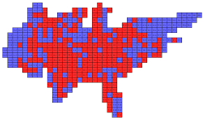 2012 Election Map by Us 2012 House Election Cartogram