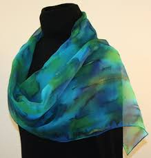 featured silk scarves and accessories blue and green chiffon