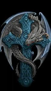 tattoo cross dragon beautiful x draci pinterest dragons tattoo and anne stokes