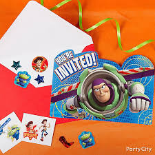 toy story invite with surprise idea invitation u0026 thank you ideas
