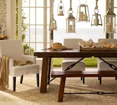 farmhouse table and benches and upholstered chairs house