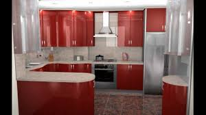 design small kitchens small modern kitchen ideas with red cabinet and ceramic floor design