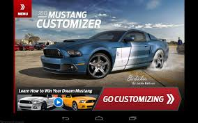 2015 mustang customizer 2013 mustang customizer now available for iphone and android