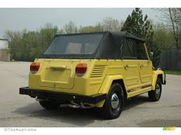 volkswagen thing yellow sunshine yellow 1973 volkswagen thing type 181 exterior photo