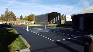 Backyard Tennis Court Cost Backyard Basketball Court Installation Home Outdoor Decoration
