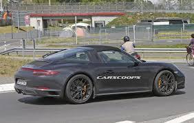 porsche targa 2017 2017 porsche 911 gts targa spied undisguised gets turbo six