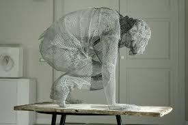 Chicken Wire Chandelier Simply Creative Figurative Wire Mesh Sculptures By Edoardo Tresoldi