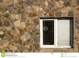 modern plastic window with horizontal blinds stock photo image