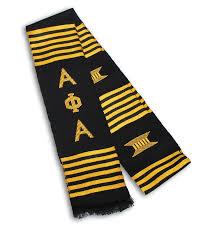 kente graduation stoles alpha phi alpha hat oval greekgear