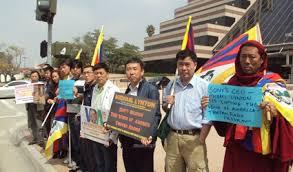 tibetan bureau office tibetans protest at bbg s michael lynton s la sony office against