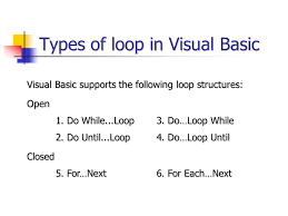 visual basic for loop going loopy with visual basic ppt video online download