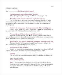 non profit thank you letter sample printable non profit donation