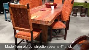 Hardwood Dining Room Tables Wood Dining Tables Youtube