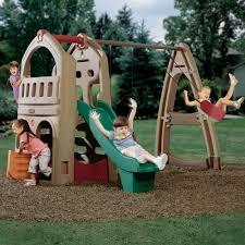 amazon com step2 naturally playful playhouse climber u0026 swing set