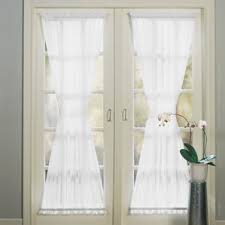 Curtain Rods French Doors Sheer French Door Curtains Wayfair