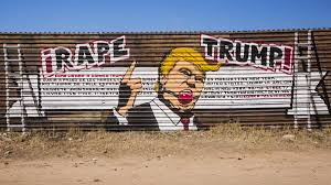 someone painted a rape trump mural on the mexican border vice