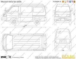 van mitsubishi delica the blueprints com vector drawing mitsubishi delica van