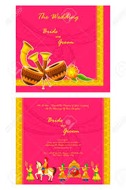 indian wedding invitation cards vector illustration of indian wedding invitation card royalty free