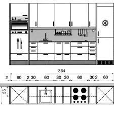 dessin evier cuisine plan cuisine gratuit 20 plans de cuisine de 1 m2 à 32 m2 côté maison