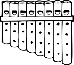 pan pipes black white line art musical coloring book colouring