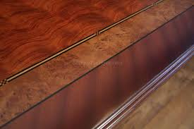 Storing Laminate Flooring Mahogany And Walnut Dining Room Table With Self Storing Leaves