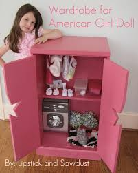 18 inch doll storage cabinet lipstick and sawdust wardrobe for american doll