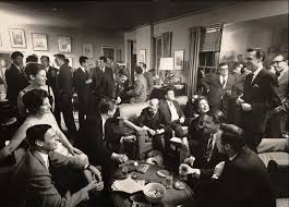 a typical party at george plimpton u0027s apartment the paris review