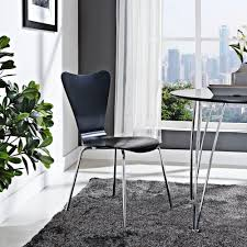 Side Chairs Living Room by Amazon Com Modway Eei 537 Blk Ernie Black Dining Side Chair Chairs