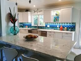 most top divine kitchen blue glass backsplash tiles arrangement
