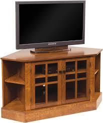 Corner Tv Cabinet For Flat Screens Corner Tv Cabinets And Stands Brandenberry Amish Furniture