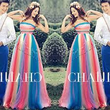 rainbow wedding dresses quinceanera prom party evening dress