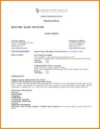 Resume Template Basic 8 Basic Outline Format Coaching Resume