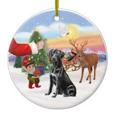 ornaments for your tree black labrador