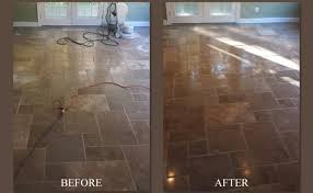 before after travertine floors polished repair nj nyc