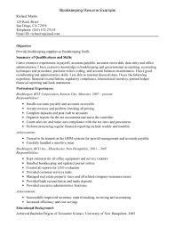 Account Payable Sample Resume by Download Bookkeeper Resume Haadyaooverbayresort Com