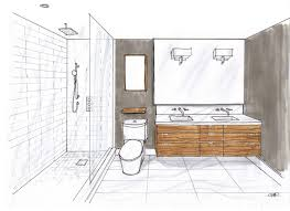 master ensuite room design and renderring by carol reed interior